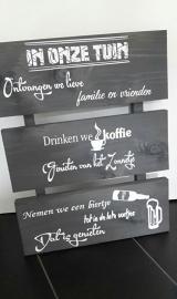 Steigerhout 3 planken Bier