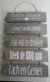 Steigerhout 5 plankjes Buiten regels 40 x 60