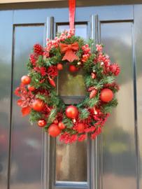 Kerstkrans rood