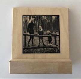 Foto op hout - met standaard