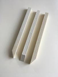 Polijstvilt staaf 10x10x150 mm middel hard dichtheid 0,56  zuivere wolvilt per 3 stuks