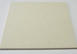 Polijstvilt plaat 200x200 x4mm middelhard dichtheid 0, 56 eenzijdig geslepen zuivere wolvilt om hoogglans te polijsten  van o.a. matrijzen.