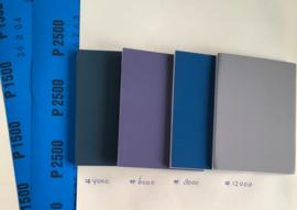 Set polijstpapier en micromesh pads om RVS weer hooglans te polijsten