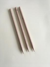 Polijststokjes hardhout rond 6mm x 150mm 3 stuks