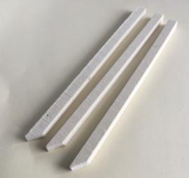 Polijstvilt staaf 6x6x150 mm middel hard dichtheid 0,56  zuivere wolvilt per 3 stuks