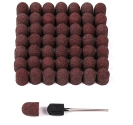 Pedicure slijpkappen 10 mm middel grof incl gummi houder per 10 stuks