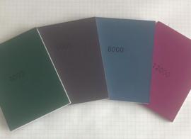 MICRO-MESH. Soft pads 75x100mm set van 4  totaal #4000.,#6000,#8000  en #12000