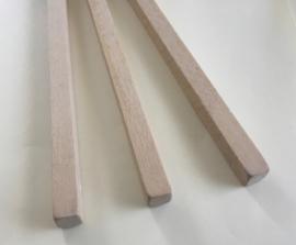 Polijsthoutje zuiver lindehout  dus krassen niet bij het polijsten afm. 10x10x200 mm per 3 stuks