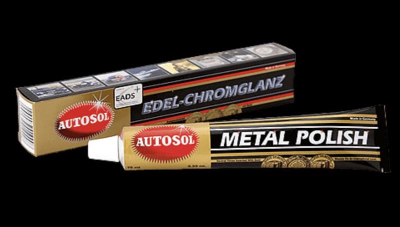 Nieuw ! Autosol Metaal Metal  polish 75 ml + polijstdoek.