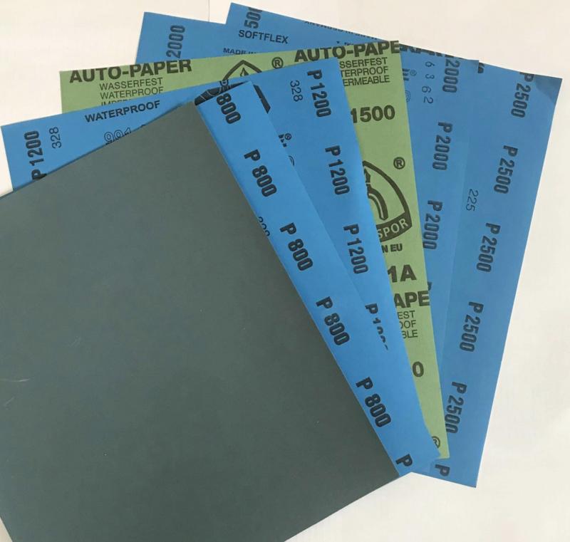 Polijstpapier:                   800,1200,1500,                 2000, 2500,3000.                        235x280mm