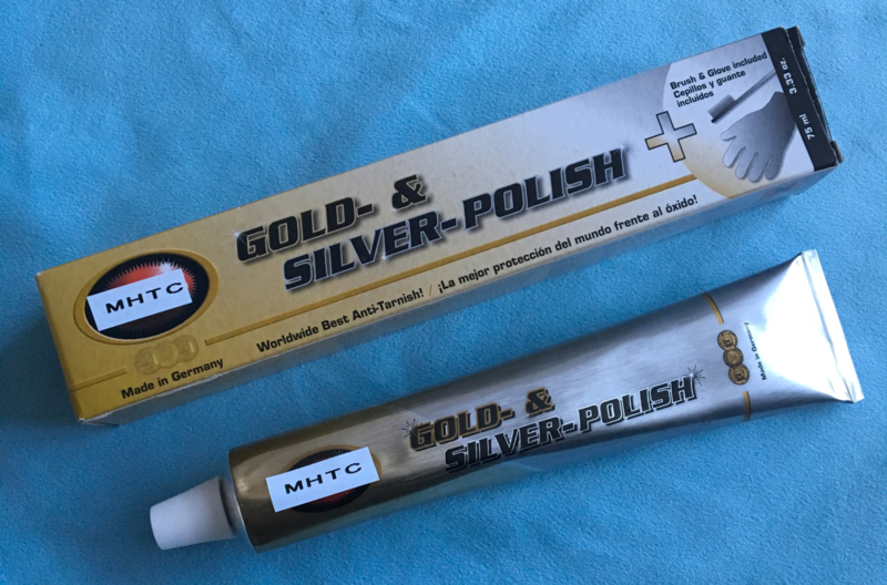 Zilver en goud polish polijstmiddel.
