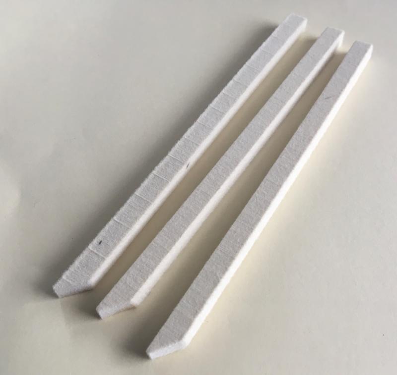 Polijstvilt staaf 6x6x150 mm hard (geimpregneerd)zuivere wolvilt per 3 stuks