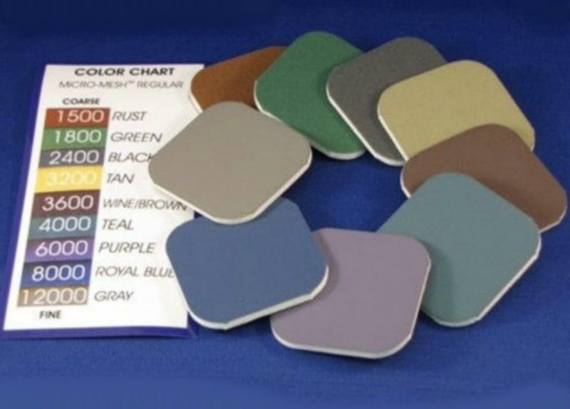 Micro-Mesh soft pads set van 9 stuk van # 1500 tot # 12000