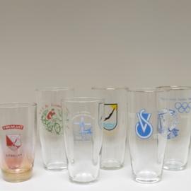 Set van 6 glazen sportvereniging