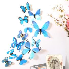 Vlinders op de muur, een set van 12