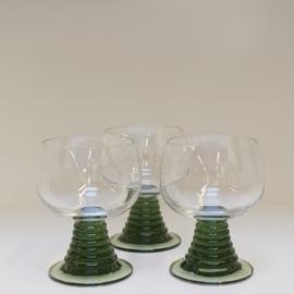 Roemer set van 3 borrel glazen