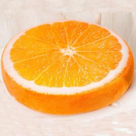 Rond Sinaasappel Kussentje