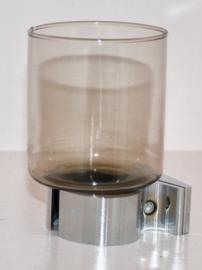 70s rookglazen badkamer glas(houder)