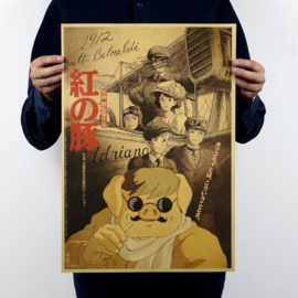 Ghibli Studio Porco Rosso poster