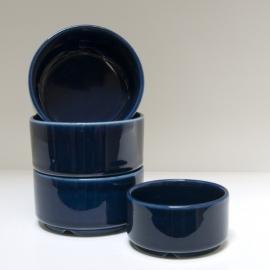 Set van 4 kobalt blauwe schaaltjes