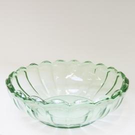 Glazen schaal groen