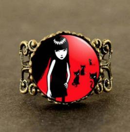 Emily the Strange ring