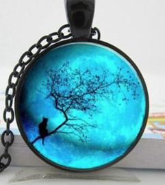 Blauwe maan ketting