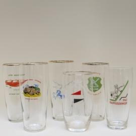 Set van 6 glazen verenigingen