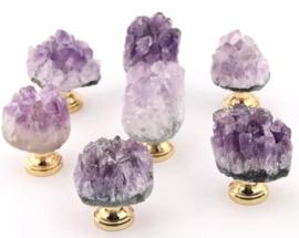 Amethist kristal knop