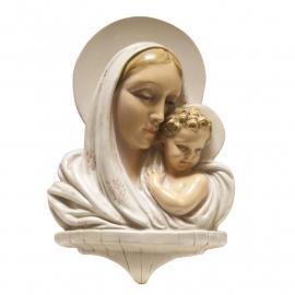 Gesigneerde buste maria met kind aardewerk