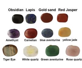 Halfedelstenen en mineralen ladeknop