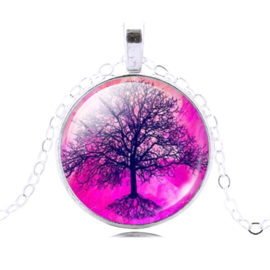 Tree of Life Roze ketting