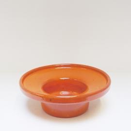 Kandelaar oranje voor stompkaars