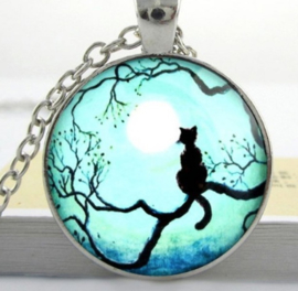 Poes in maanlicht ketting
