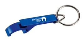 Key ring with opener
