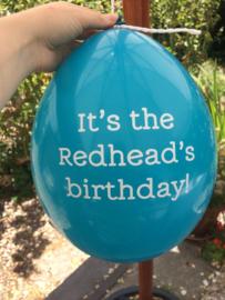 Redhead Birthday Balloons