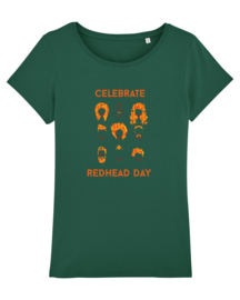 T-shirt - Women -  Celebrate Redhead day