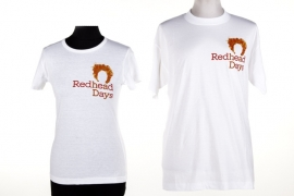 Heren t shirt wit met logo