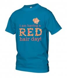 Heren t-shirt lichtblauw met zegel 10 jaar Redhead Days