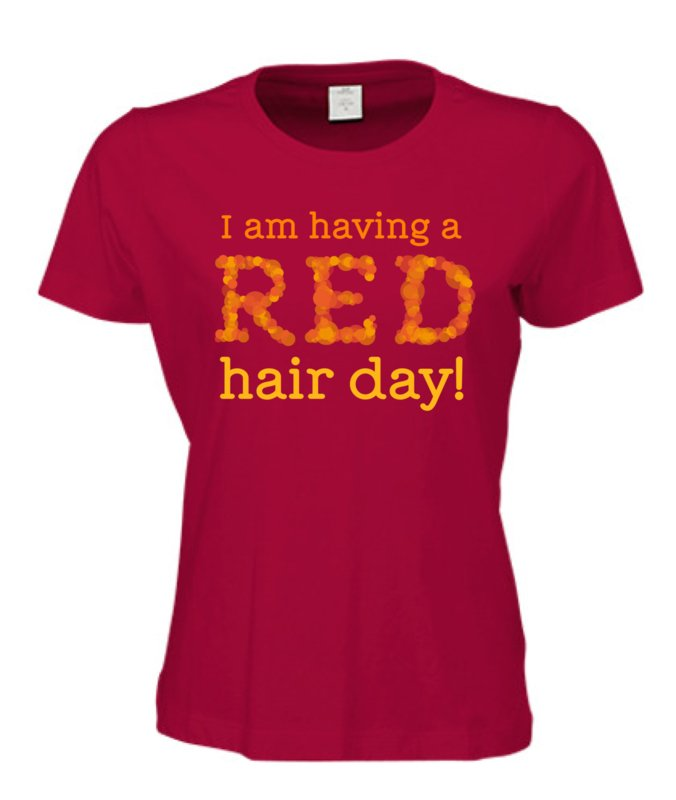 Dames t shirt rood