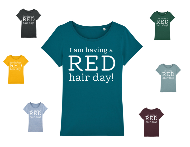 T-shirt - Women - Having a Red hair day - Teal