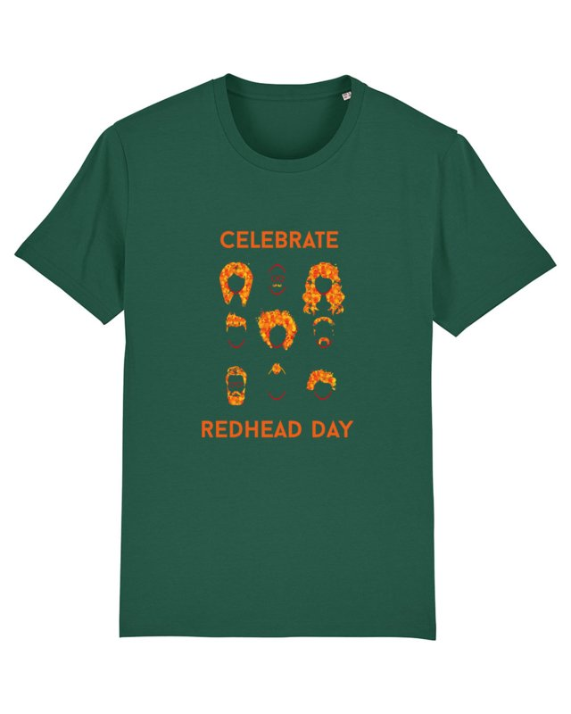 T-shirt - Men -  Celebrate Redhead day