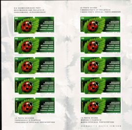 "2002.Postzegelboekje 74 ""Geluksbrenger"" Zelfklevend **"