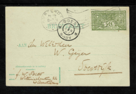 1906. 85 3 ct. groen op briefkaart ✉️