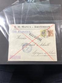 Opberghoes voor poststukken, ansichtkaarten e.d.