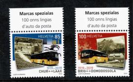 2019. 100 jaar Zwitserse Postbus routes **