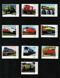 Schitterende serie van 10 PPZ Internationale Treinzegels