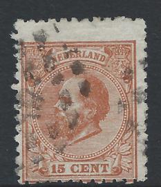 23E. 15 cent oranjebruin