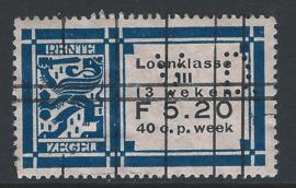 VD. in rentezegel c25 5 Gulden 20 cent (met watermerk)