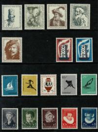 1956. 671 t.m 687 Complete jaarset **